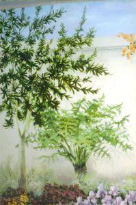 mural detail ferns